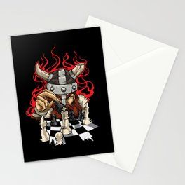 Brave Viking With Chessboard - Chess Stationery Cards