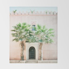 "Travel photography print ""Magical Marrakech"" photo art made in Morocco. Pastel colored. Throw Blanket"