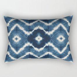 Shibori, tie dye, chevron print Rectangular Pillow