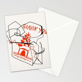 Chinese Food Takeout - Contour Line Drawing Stationery Cards