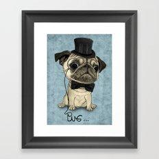 Pug; Gentle Pug (v3) Framed Art Print