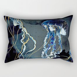Metallic Ocean III Rectangular Pillow