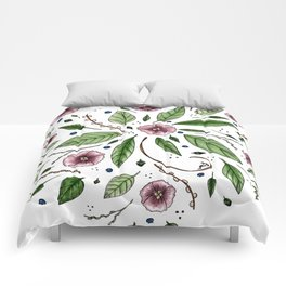 Hanging Among the Flowers & Leaves Comforters