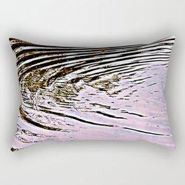 Pink Sky Reflected in Ripples Rectangular Pillow