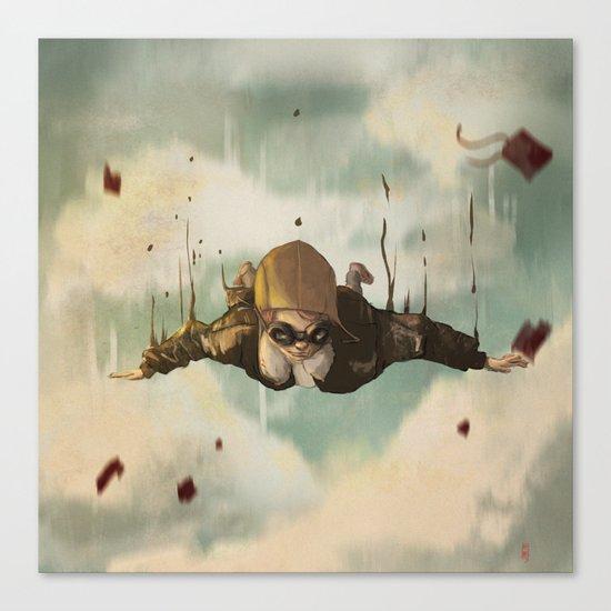 -Plane  crasH- Canvas Print