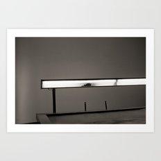 broken lighting Art Print