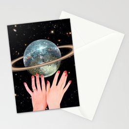 Saturn Disco Stationery Cards