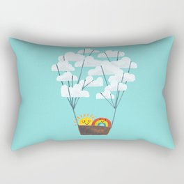 Hot cloud balloon - sun and rainbow Rectangular Pillow