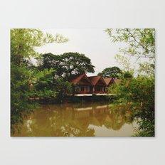 Bamboo Curtain Canvas Print