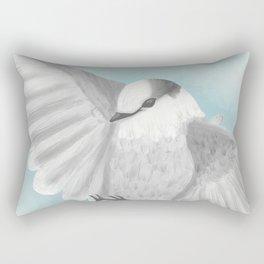 Gray Jay in Flight Rectangular Pillow