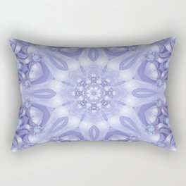 Light Blue, Lavender & White Floral Mandala Rectangular Pillow