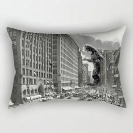Old Time Godzilla in New York Rectangular Pillow