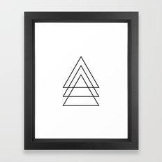 Minimal Trio Of Triangles Framed Art Print