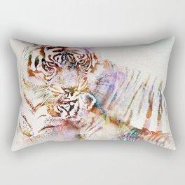 Tigress with Cub Rectangular Pillow