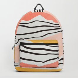 Modern irregular Stripes 01 Backpack