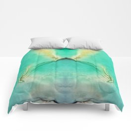 Green and Yellow Marble Comforters
