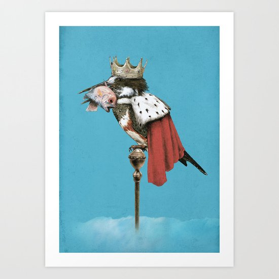 Kingfisher (Blue Option) Art Print