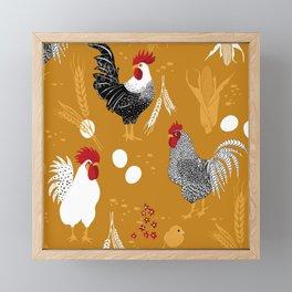 Rooster Roundup Framed Mini Art Print
