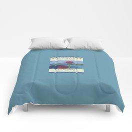 Art Travel Poster Gan Gan Comforters