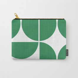 Mid Century Modern Green Square Carry-All Pouch