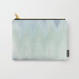 Modern geometrical pastel blue mint green watercolor ikat Carry-All Pouch