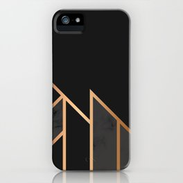 Black & Gold 035 iPhone Case