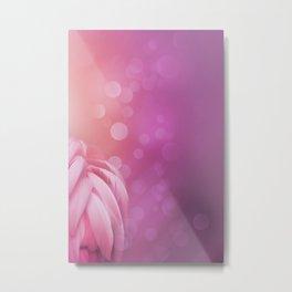 Pink Flamingo Feathers Metal Print
