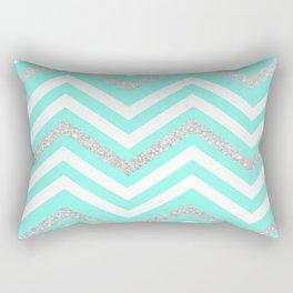 Turquoise Sparkle Rectangular Pillow