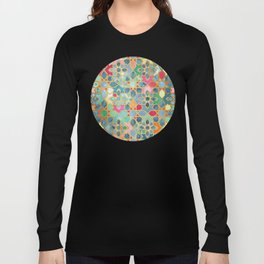 Gilt & Glory - Colorful Moroccan Mosaic Langarmshirt