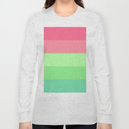 Watermelon Paradise Stripe Colour Palette Long Sleeve T-shirt