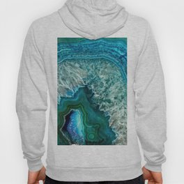 Aqua turquoise agate mineral gem stone - Beautiful Backdrop Hoody