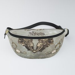 Awesome mechanical skull Fanny Pack