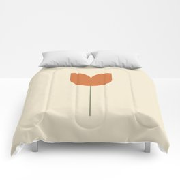 Red Tulip Minimal Comforters