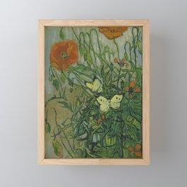 Vincent van Gogh - Butterflies and Poppies (1890) Framed Mini Art Print