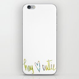 Hey Cutie! Fabric art iPhone Skin