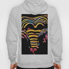 1276s-MAK Intimate Nude Abstraction Striped Torso With Hands On Thighs Hoody