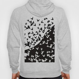 Flocks of birds. Allegory of day and night Hoody