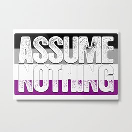 Assume Nothing Asexual Pride Flag Metal Print