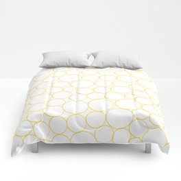 Circled in Gold Comforters