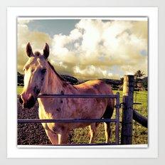Ronin Horse, Warrior Brother Art Print