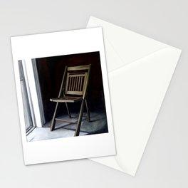Empty Folding Chair Next to Window Stationery Cards
