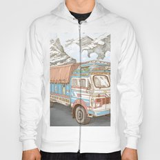 A Truck in the Himalayas Hoody