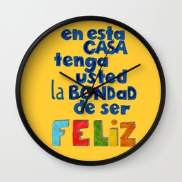 Feliz Wall Clock