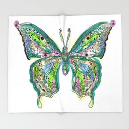 Fly Butterfly Throw Blanket