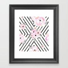 Blush Roses Mod Framed Art Print