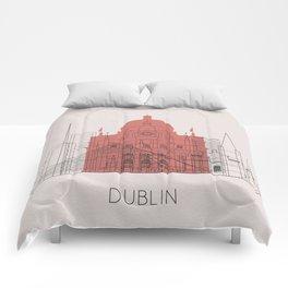 Dublin Landmarks Poster Comforters