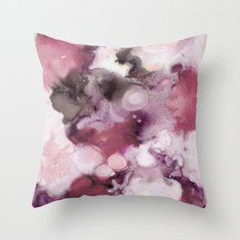 Organic Abstract in shades of plum Throw Pillow