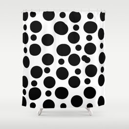 Black spots Shower Curtain