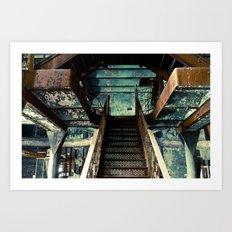 Original Rainier Brewery Stairs Art Print