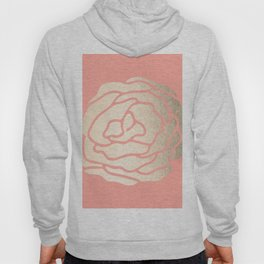 Rose White Gold Sands on Salmon Pink Hoody
